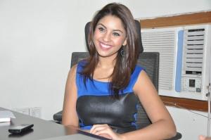 Actress Richa Gangopadhyay in Blue Dress Photos