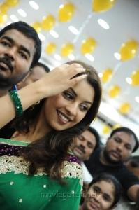 Actress Richa Gangopadhyay in Saree  Photos @ Vijayawada Central Launch