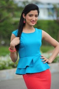Actress Richa Panai Hot Photos in Sky Blue Top & Red Skirt