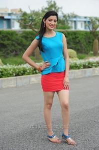 Richa Panai Hot Photos in Sky Blue Top & Red Skirt