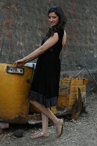 Actress Richa Panai in Black Dress Photos in Rakshaka Bhatudu