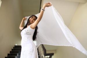 Telugu Heroine Rithika New Stills in White Dress
