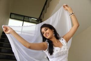 Telugu Actress Rithika Hot Stills in White Dress