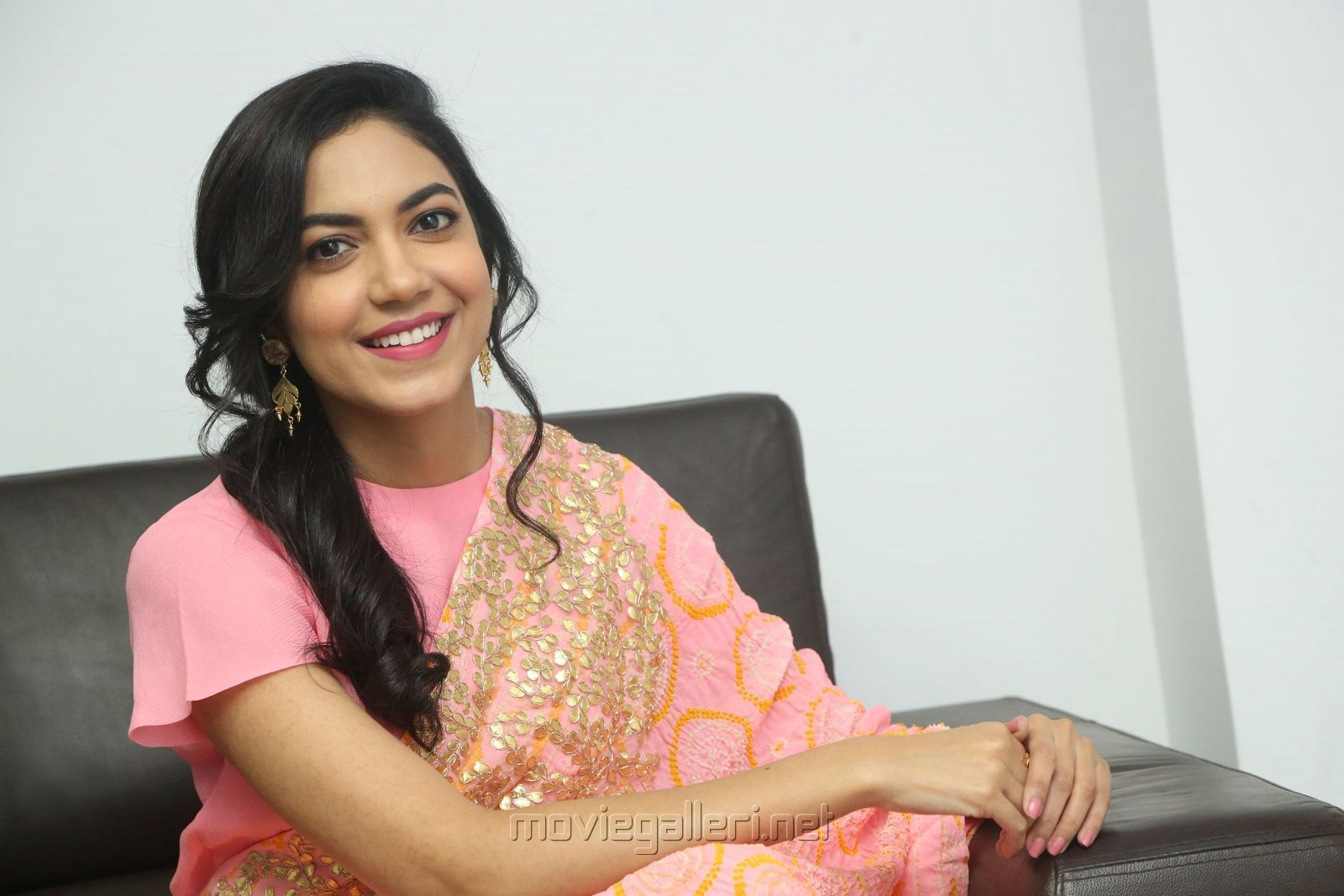 Ritu Varma Photos In Pink Dress @ Keshava Interview