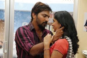 Vaibhav, Sana Althaf in RK Nagar Movie Stills