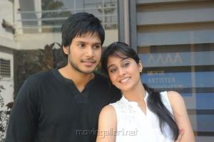 Sundeep Kishan, Regina Cassandra at Routine Love Story Movie Team Interview Photos