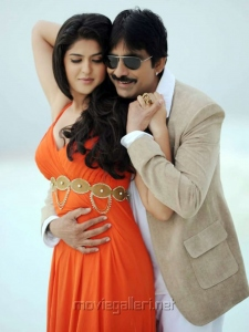 Deeksha Seth, Ravi Teja in Rowdi Raja Movie Stills