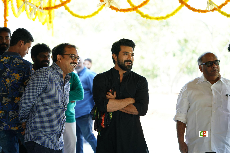 Koratala Siva, Ram Charan @ RRR Movie Opening Photos HD