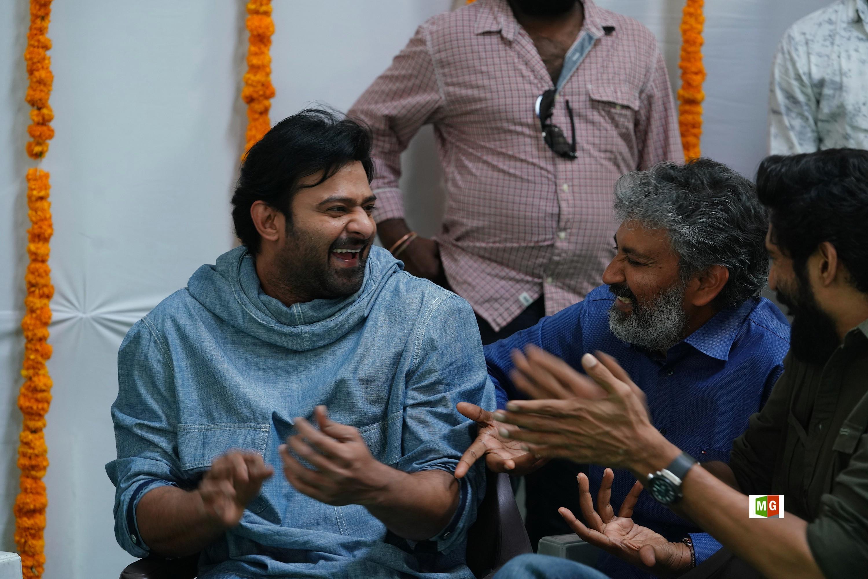 Prabhas, SS Rajamouli @ RRR Movie Opening Photos HD