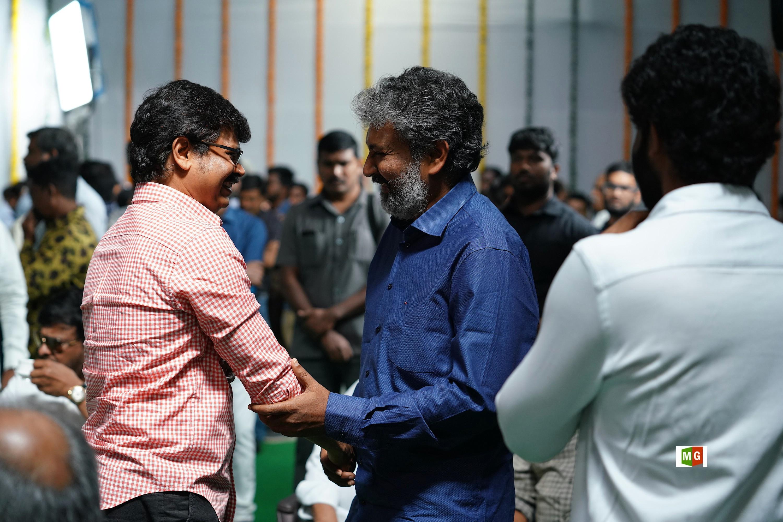 Boyapati Srinu, SS Rajamouli @ RRR Movie Opening Photos HD