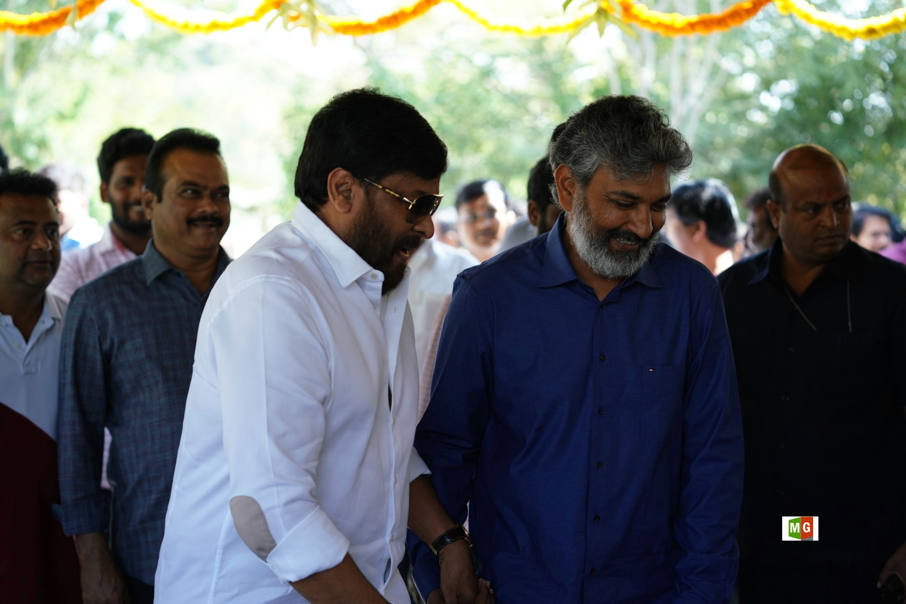 Chiranjeevi, SS Rajamouli @ RRR Movie Opening Photos HD
