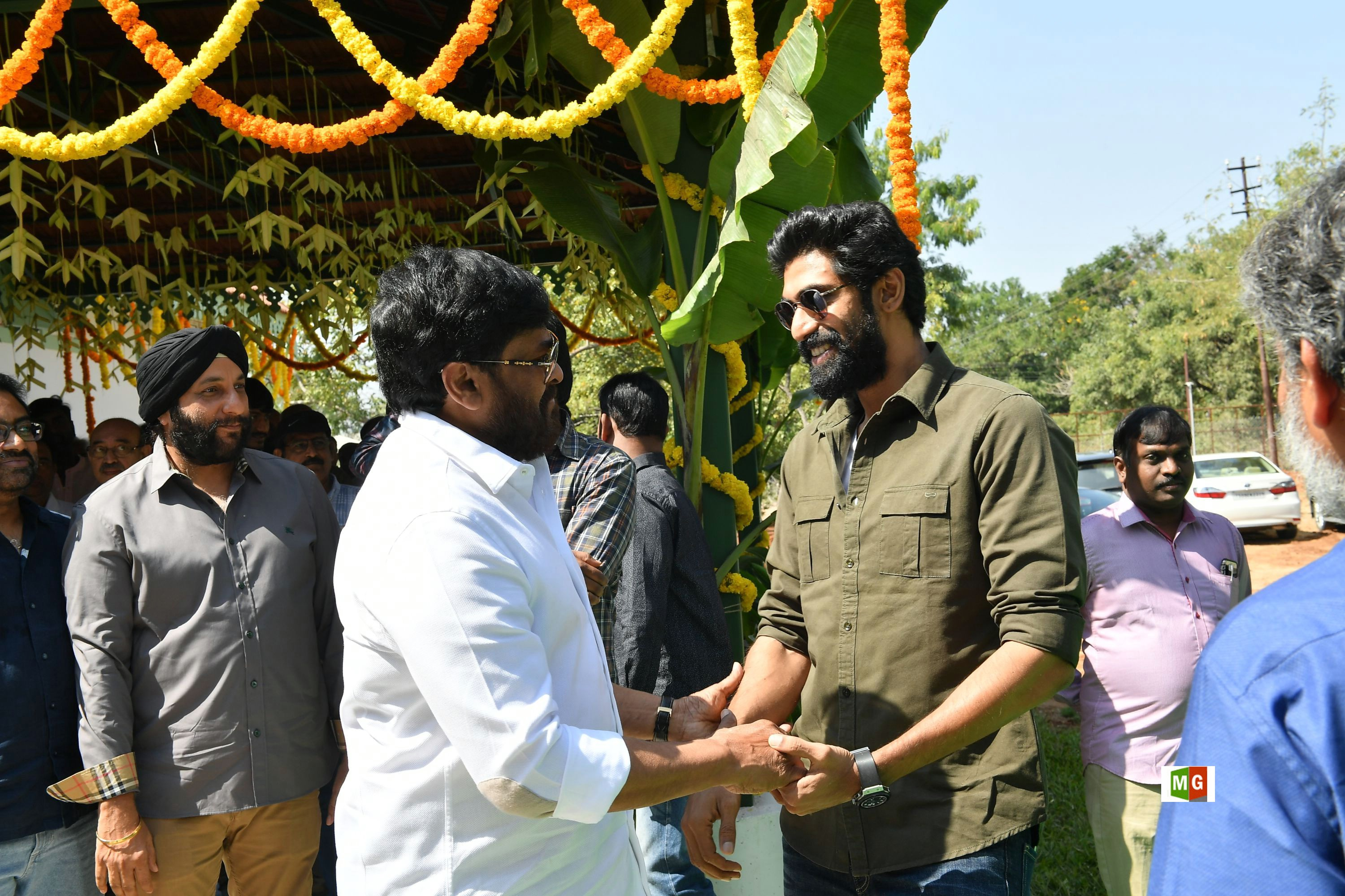 Chiranjeevi, Rana Daggubati @ RRR Movie Opening Photos HD