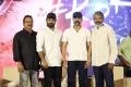 DVV Danayya, Jr NTR, Ram Charan, SS Rajamouli @ RRR Movie Press Meet Stills