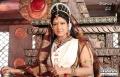 Actress Prabha as Maharani 'Somamba', the wife of Kakatiya Emperor Ganapathi Deva Chakravarthy in Rudhramadevi