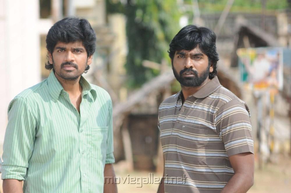 Inigo Prabhakaran, Vijay Sethupathi in Rummy Tamil Movie Stills