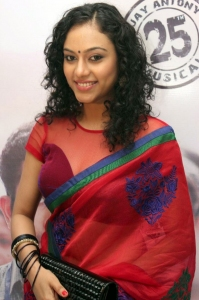 Tamil Actress Rupa Manjari Hot in Red Saree Pics