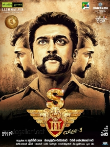 Actor Suriya in S3 (Yamudu 3) Movie Posters