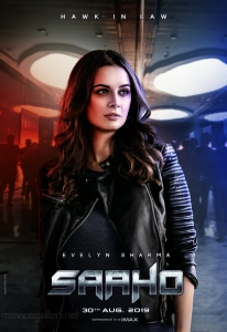 Actress Evelyn Sharma as Jennifer in Saaho Movie Character Posters HD