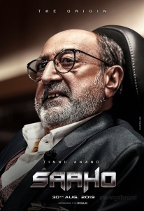 Tinnu Anand as Prithvi Raj in Saaho Movie Character Posters HD