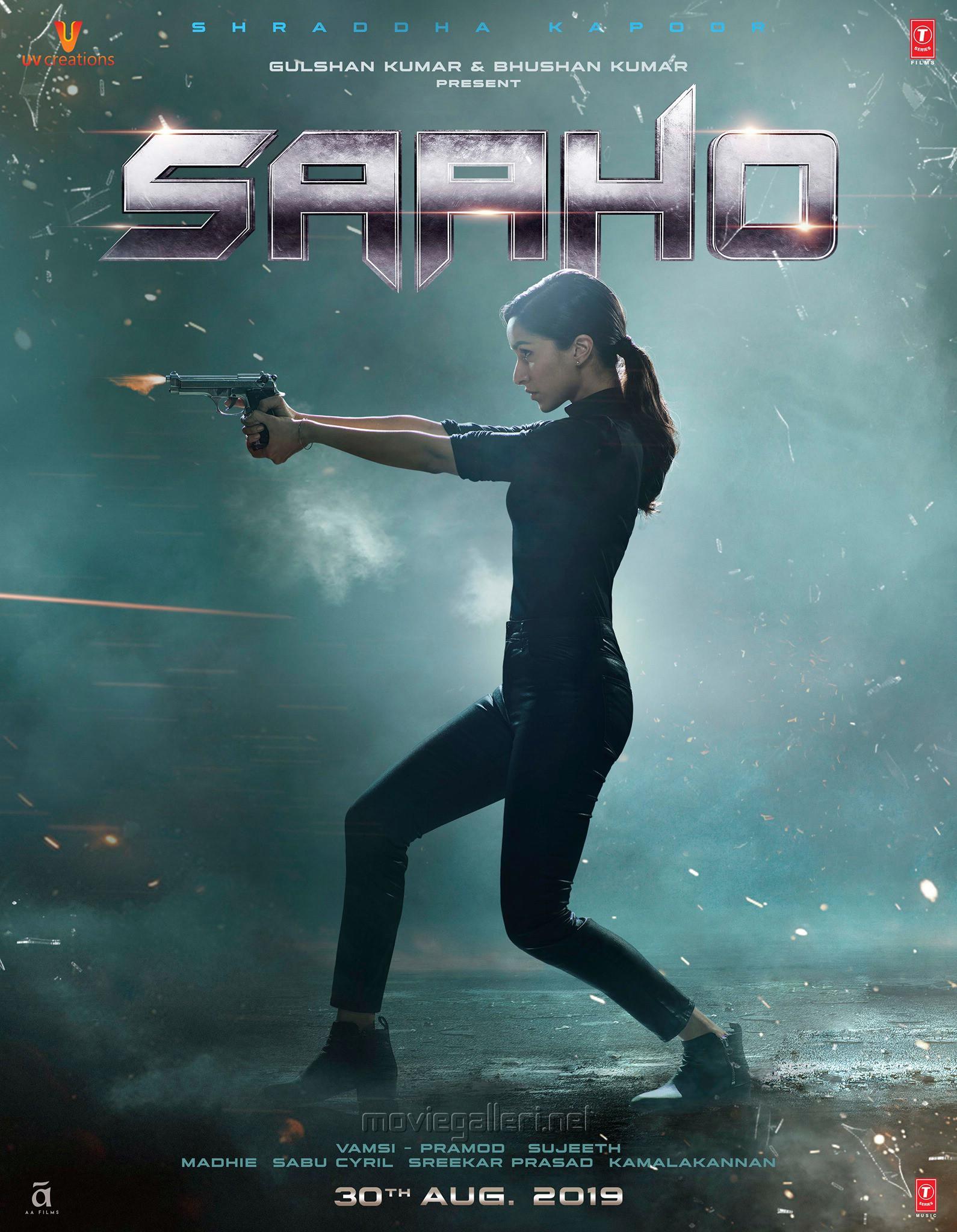 Actress Shraddha Kapoor Saaho Movie Latest Posters HD