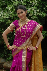 Actress Sada Saree Stills in Mythri Movie