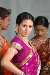 Actress Sada Cute Saree Images in Mythri Movie