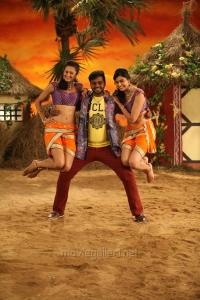 Shubra Aiyappa, Shanmugapandian, Neha Hinge in Sagaptham Movie Photos