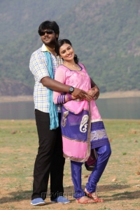 Shanmuga Pandian, Neha in Sagaptham Movie Stills