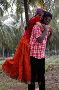 Neha, Shanmuga Pandian in Sagaptham Movie Stills