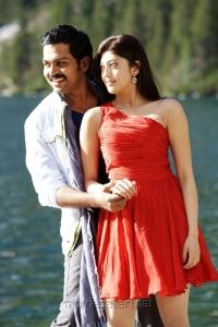 Karthi, Praneetha in Saguni Latest Stills