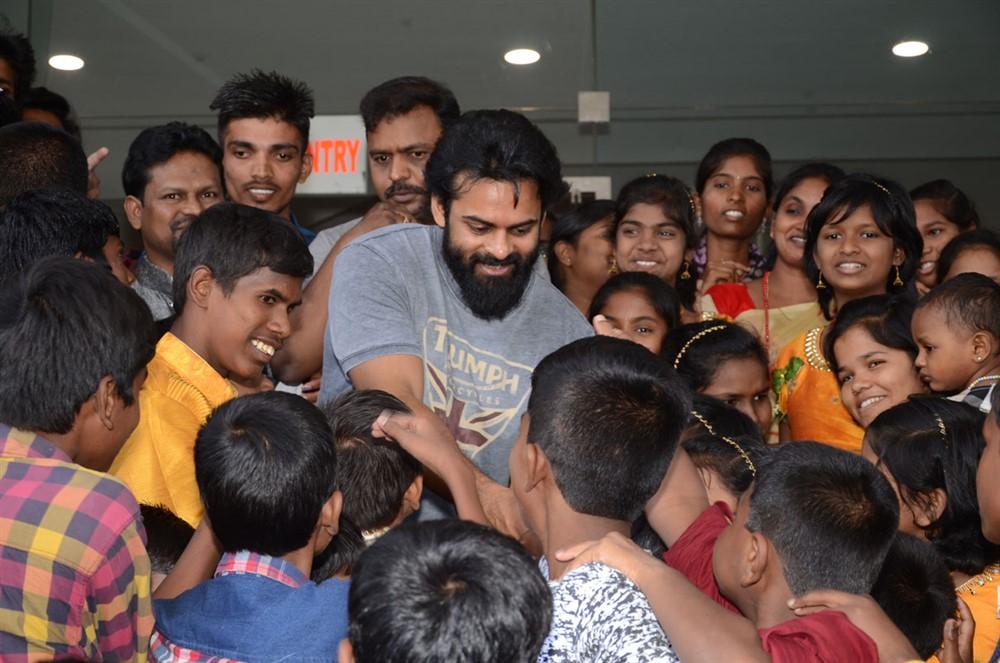 Sai Dharam Tej arranged Avengers Endgame special show for Orphan Children Photos