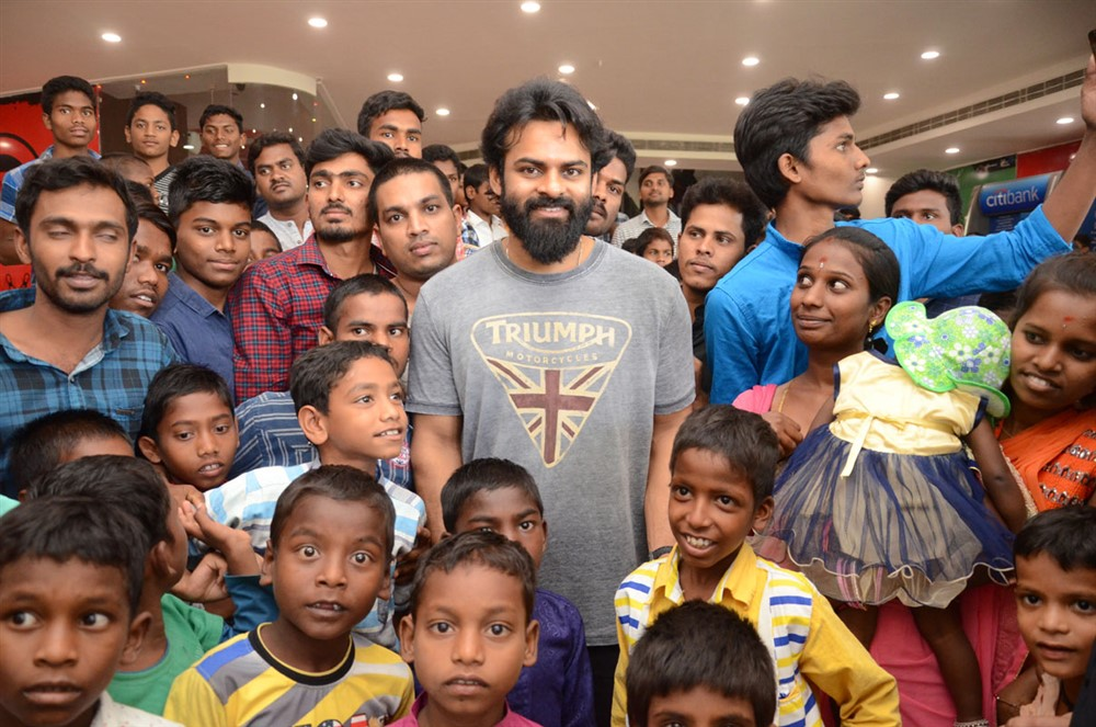 Sai Dharam Tej arranged Avengers Endgame special show for Orphan Children Photos