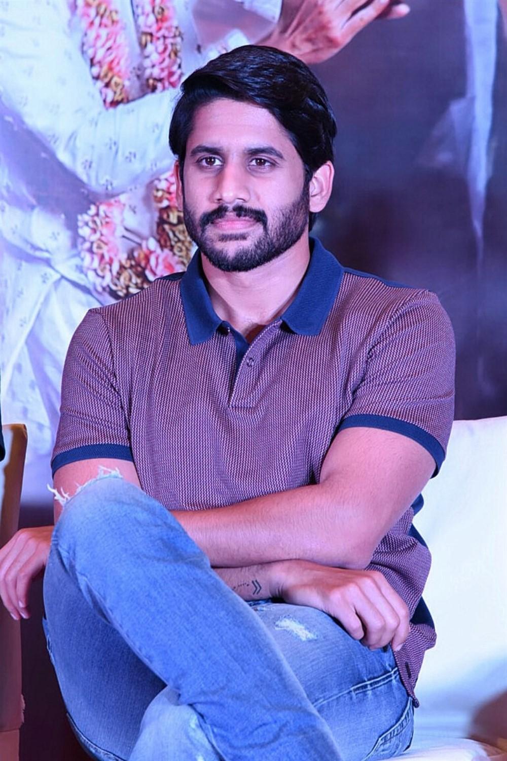 Actor Naga Chaitanya @ Sailaja Reddy Alludu Blockbuster Press Meet Stills