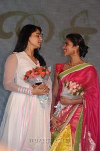 Actress Anushka, Amala Paul @ Saivam Movie Audio Launch Stills