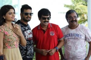 Vaibhavi Shandilya, Santhanam, Vivek, VTV Ganesh @ Sakka Podu Podu Raja Movie Pooja Stills