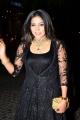 Tamil Actress Sakshi Agarwal Black Gown Dress Stills