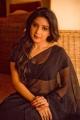 Actress Sakshi Agarwal in Black Saree Portfolio Images