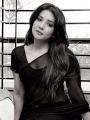 Actress Sakshi Agarwal Black Saree Portfolio Images