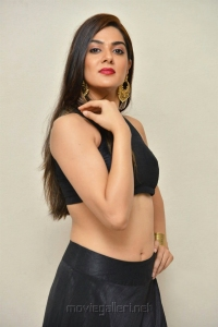 Actress Sakshi Chaudhary Hot Photos in Black Top & Long Skirt