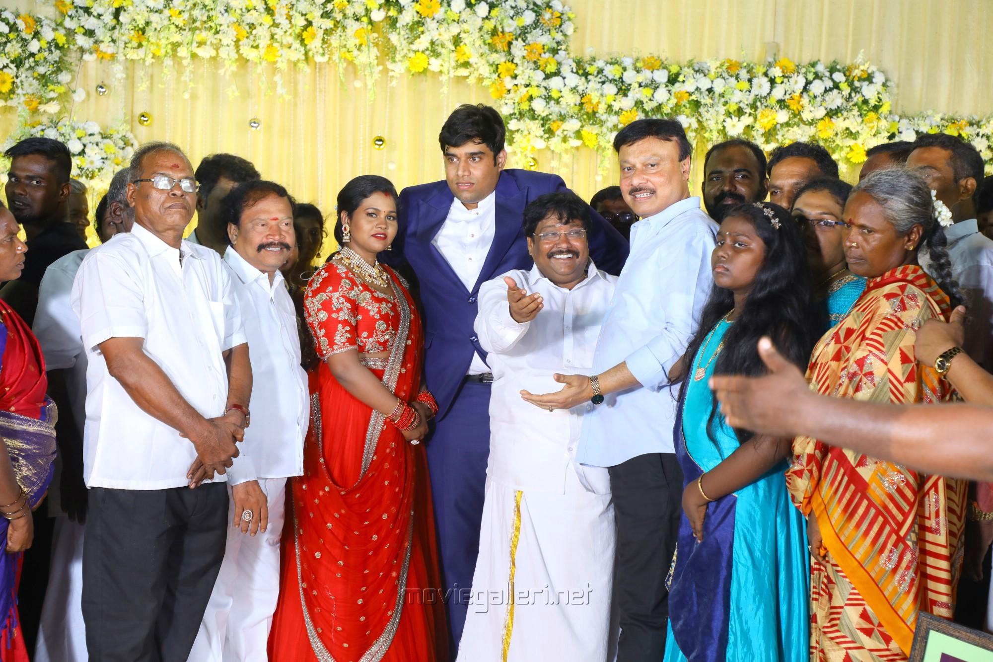 Salem RR Briyani Tamilselvan daughter Wedding Reception Stills