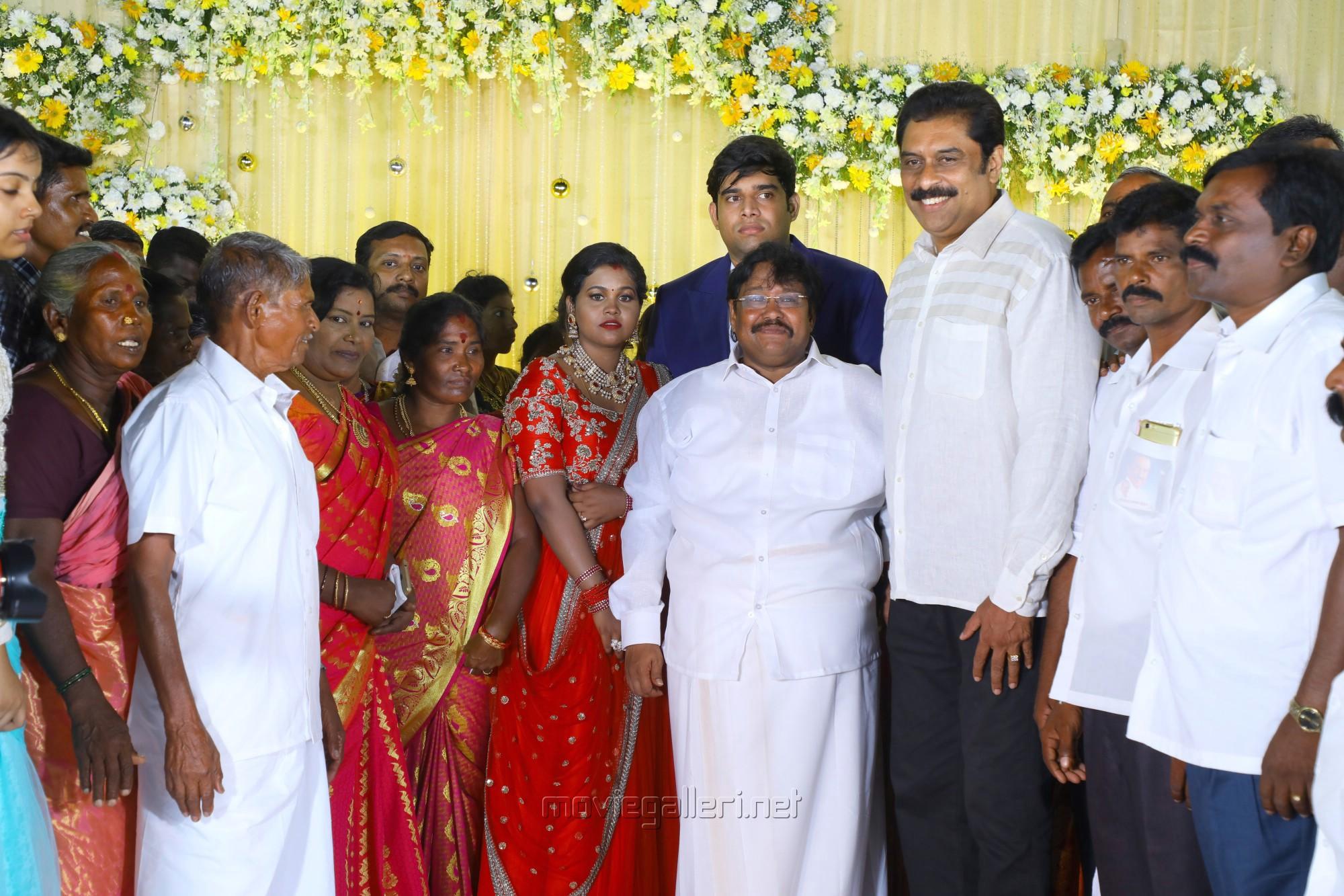 Ajay Rathnam @ Salem RR Briyani Tamilselvan daughter Wedding Reception Stills
