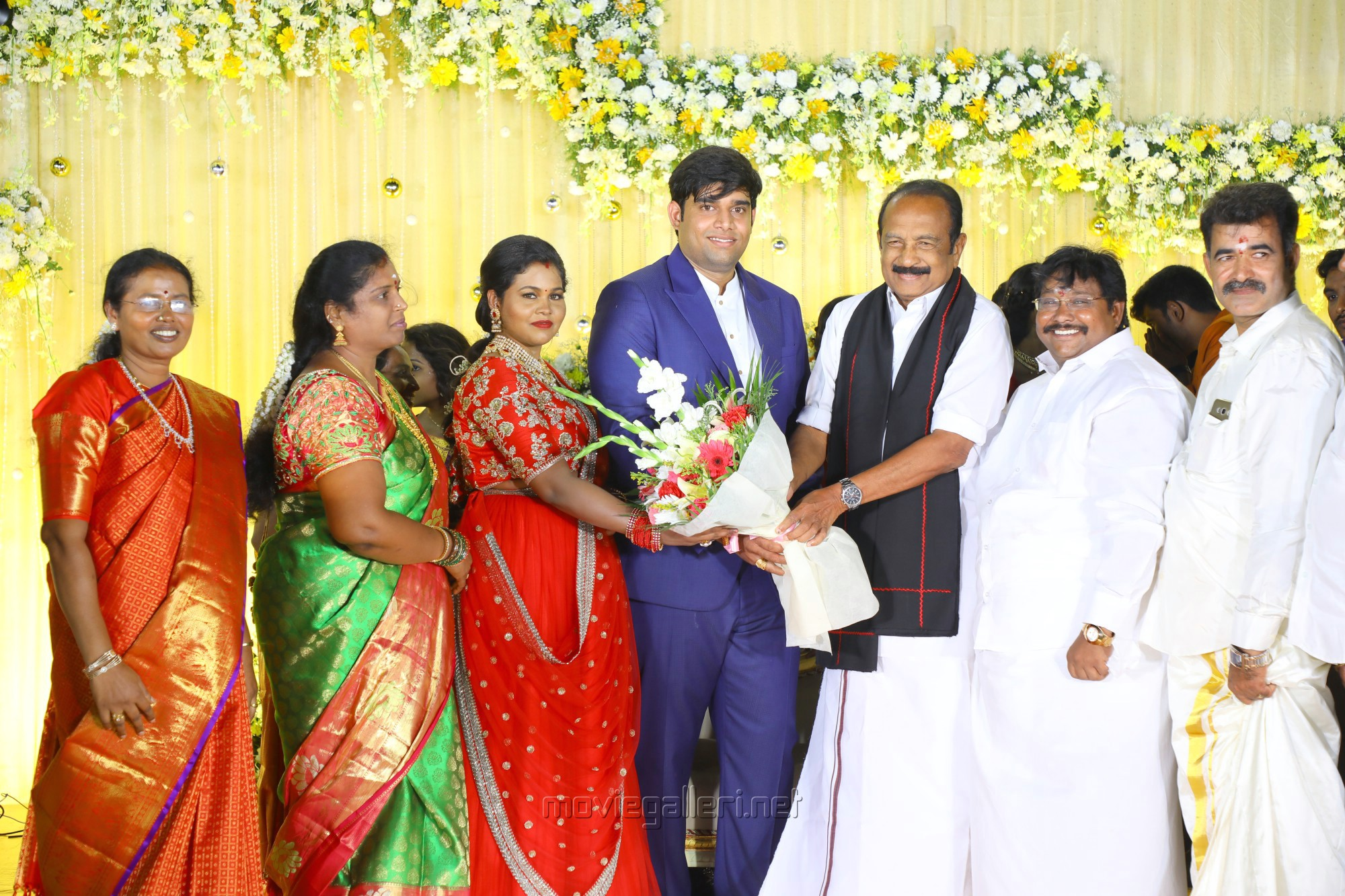 Salem RR Briyani Tamilselvan daughter Wedding Reception Stills