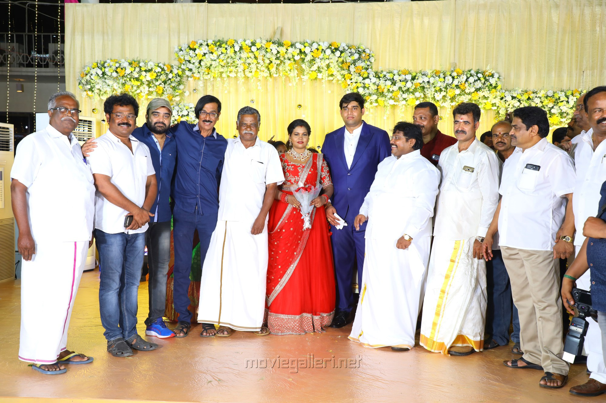 AL Udhaya, Manobala @ Salem RR Briyani Tamilselvan daughter Wedding Reception Stills