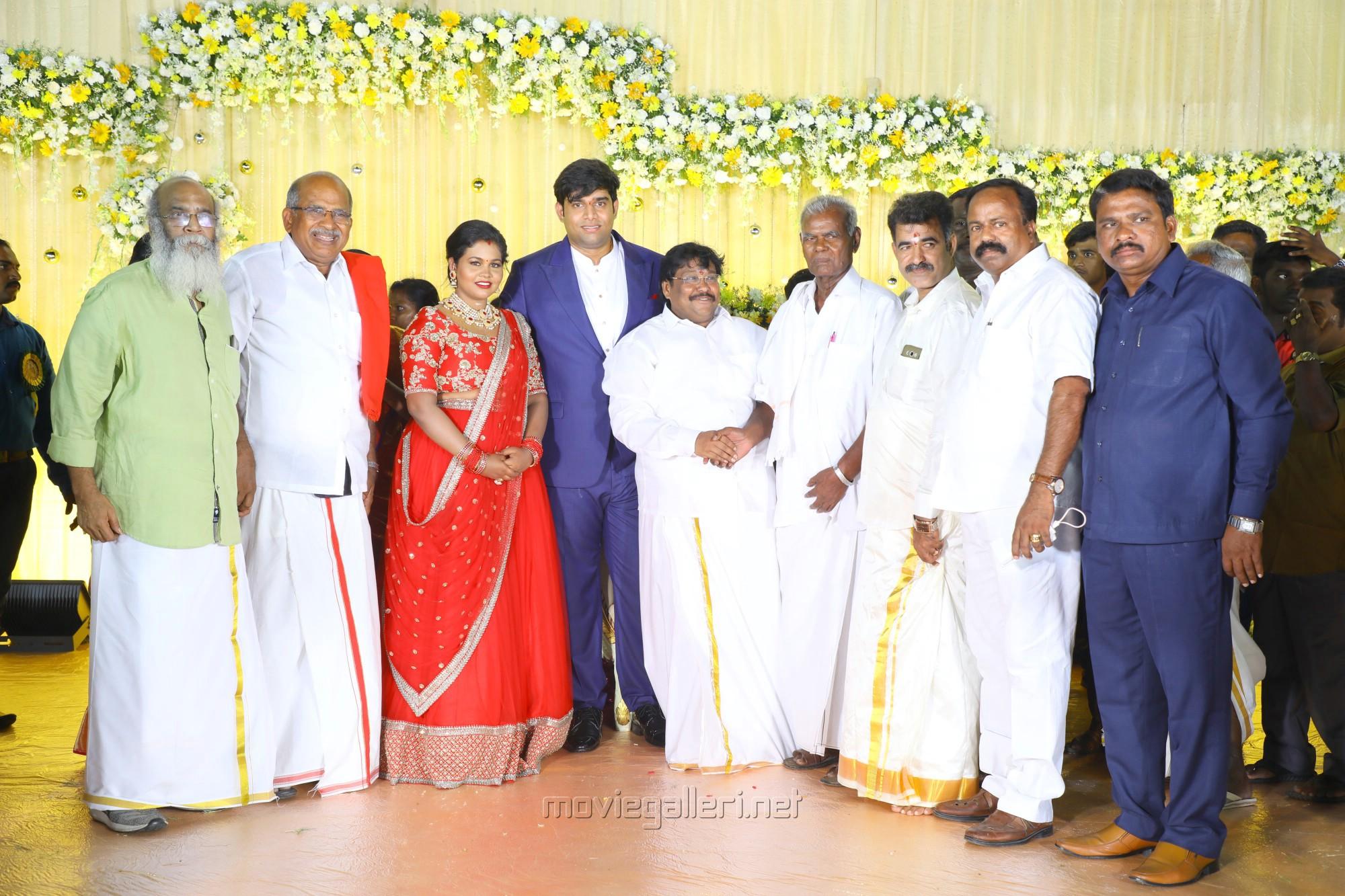 Velu Prabhakaran, Nallakannu @ Salem RR Briyani Tamilselvan daughter Wedding Reception Stills