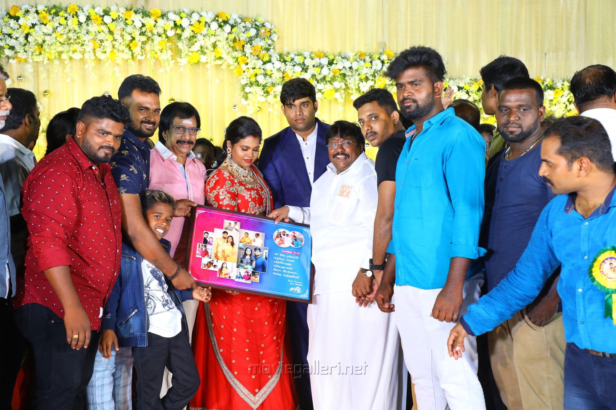 Chithra Lakshmanan @ Salem RR Briyani Tamilselvan daughter Wedding Reception Stills