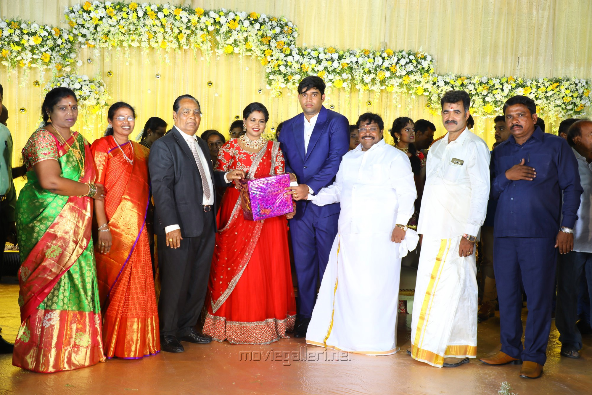VG Santhosam @ Salem RR Briyani Tamilselvan daughter Wedding Reception Stills