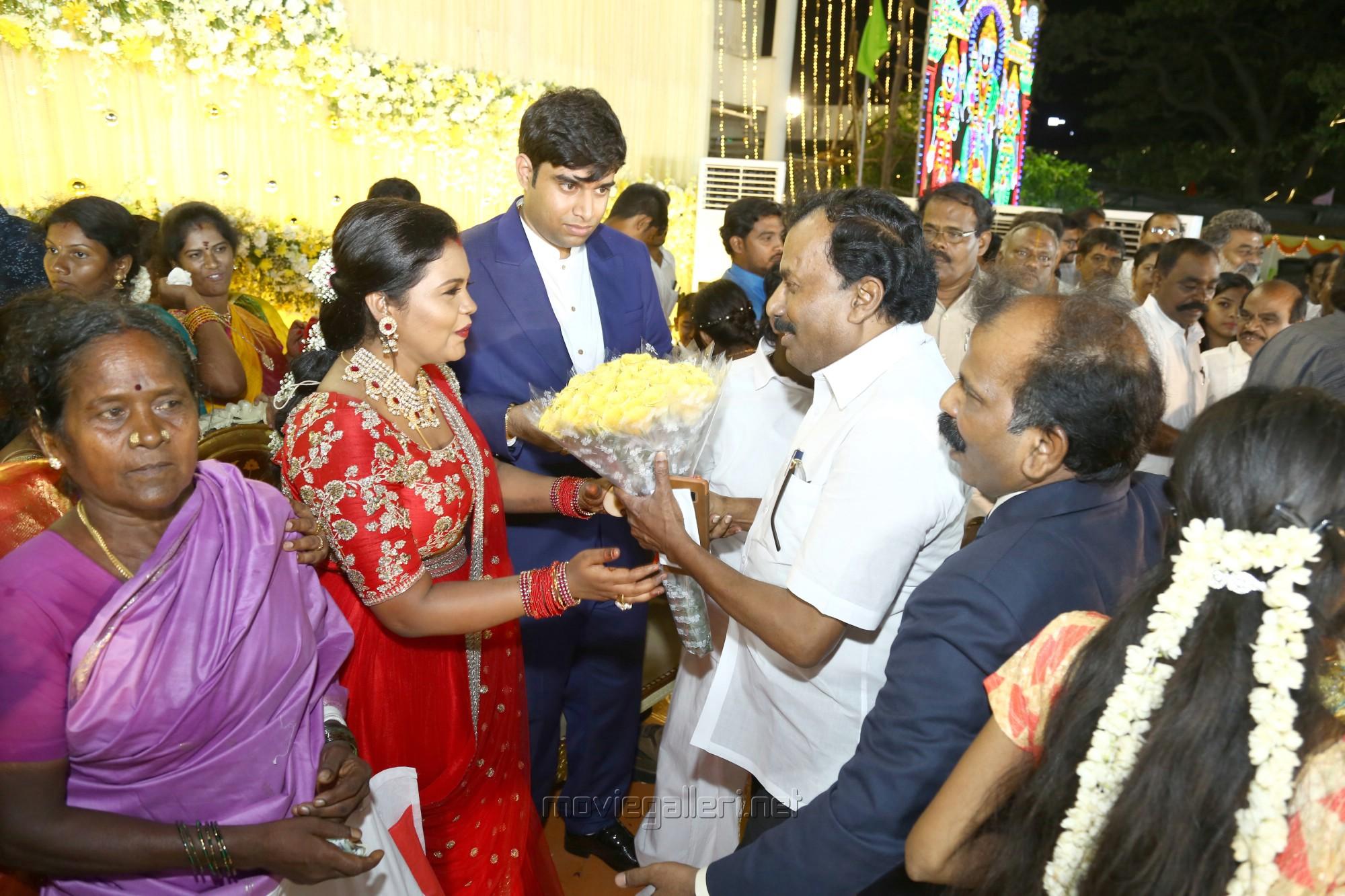 Saidai Duraisamy @ Salem RR Briyani Tamilselvan daughter Wedding Reception Stills