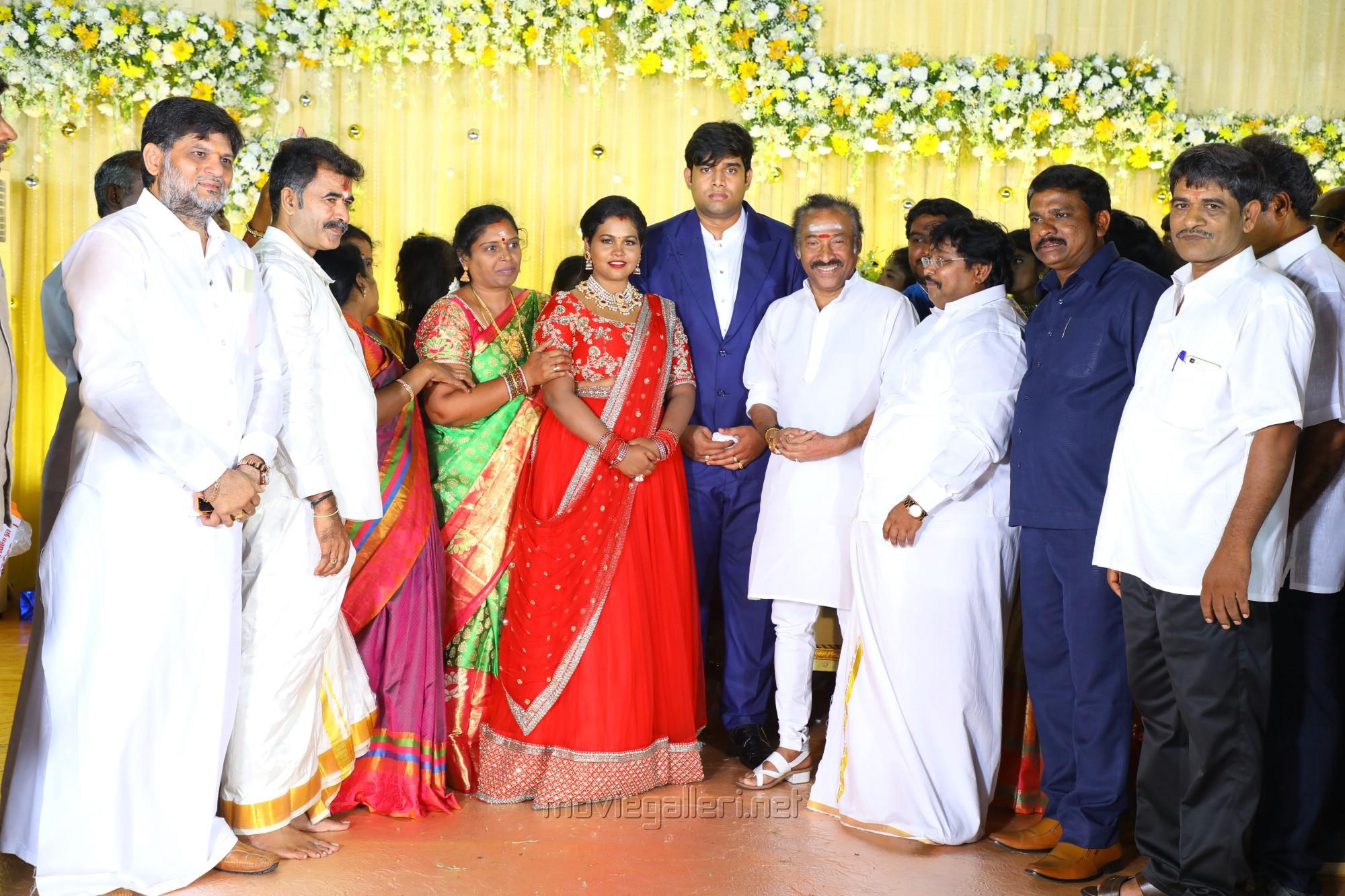 Deva @ Salem RR Briyani Tamilselvan daughter Wedding Reception Stills