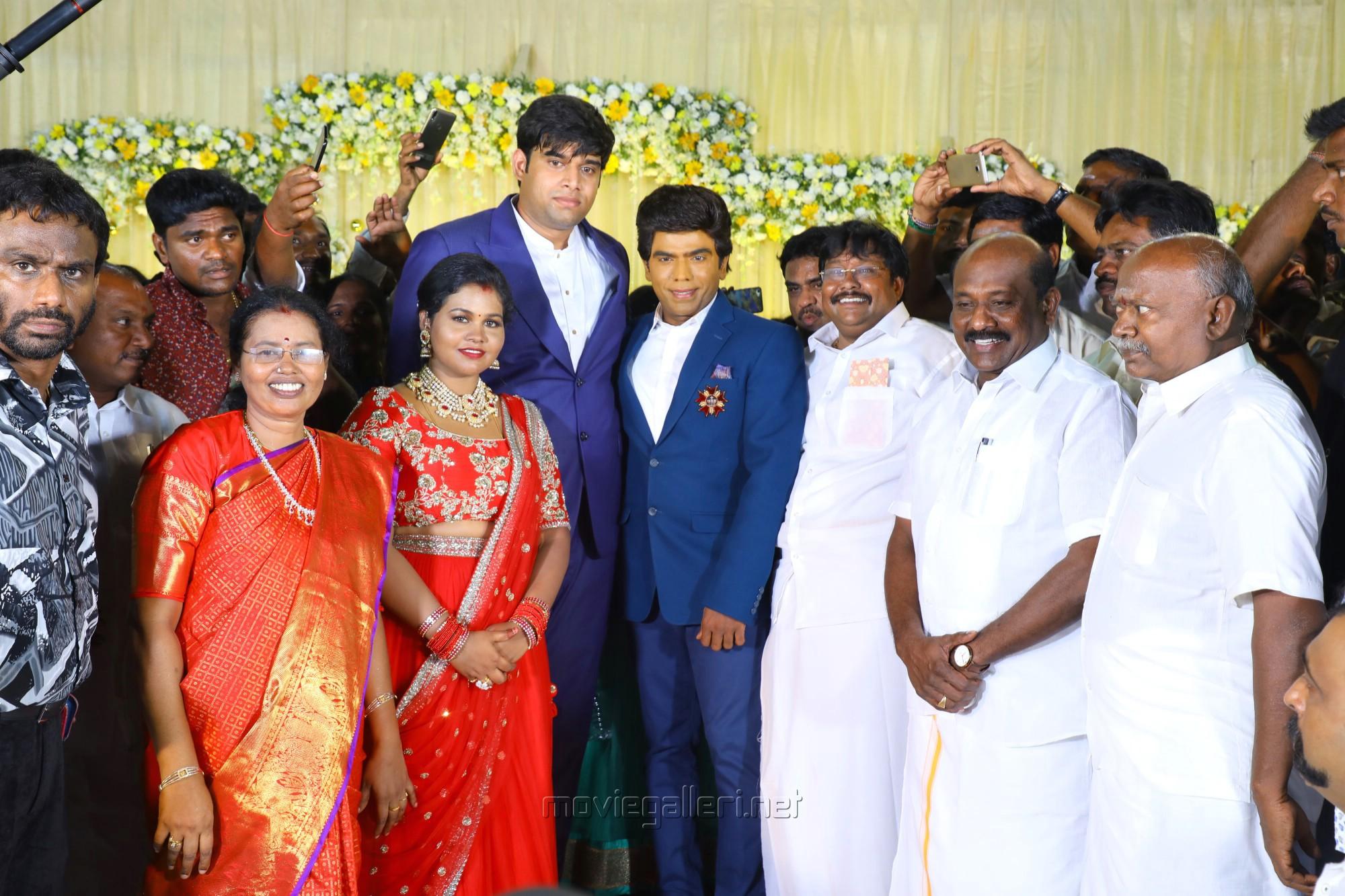 Legend Saravana Stores owner Saravanan @ Salem RR Briyani Tamilselvan daughter Wedding Reception Stills