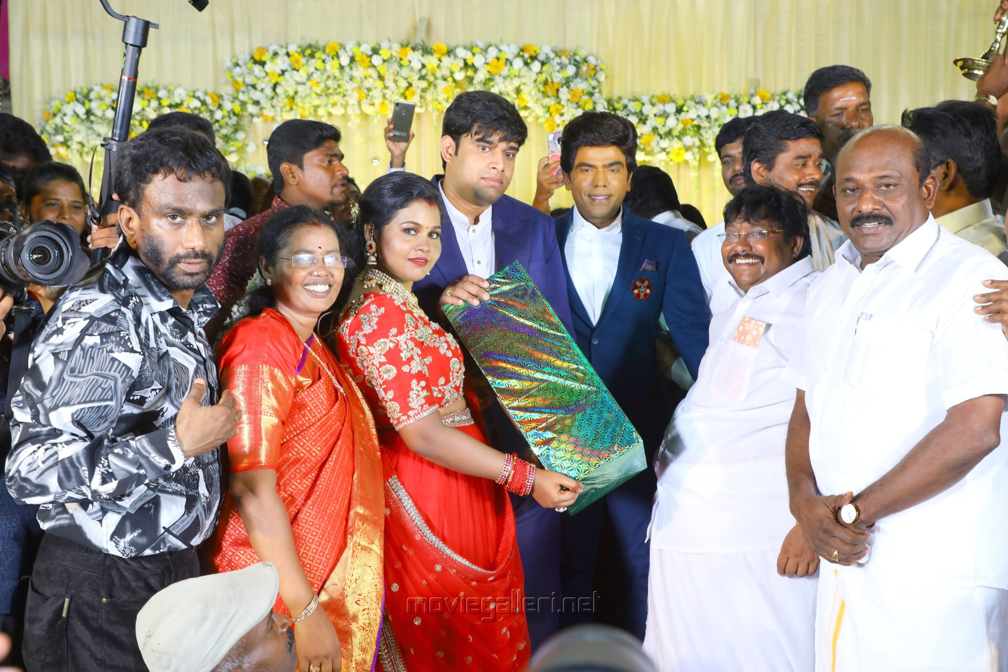 Legend Saravana Stores owner Saravanan @ Salem RR Briyani Tamilselvan daughter Wedding Reception Stills